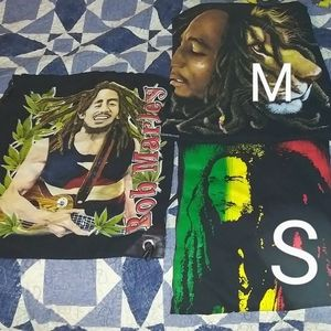 Bob Marley t shirt + bag bundle lot s/m